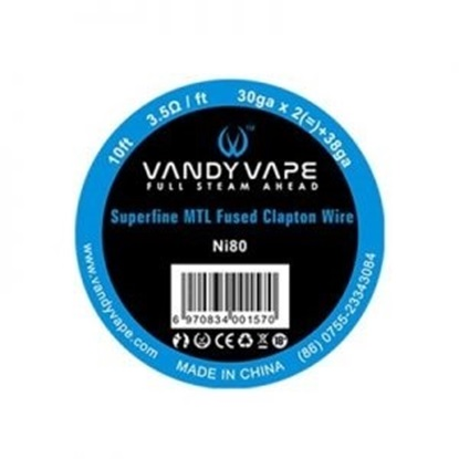 Picture of Vandy Vape Superfine MTL Fused Clapton Vape Wire Ni80 30ga*2+38ga