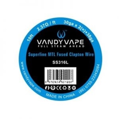 Picture of Vandy Vape Superfine MTL Fused Clapton Vape Wire SS316L 30ga*2+38ga