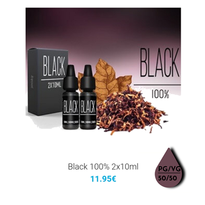 Picture of 2x10ml Black 100%